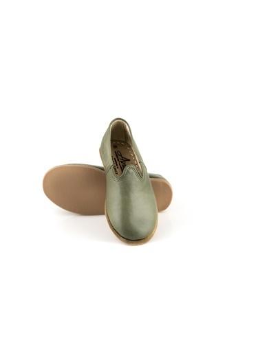 Aintap %100 Hakiki Deri Çocuk Ayakkabı Yeşil Gaziantep Yemeni Yeşil